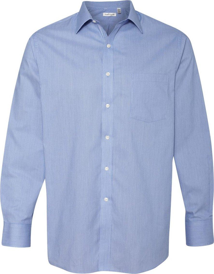 0921a004e8c015 bluee bluee bluee Van Heusen Men's Long-Sleeve Feather Stripe V0235 af139e