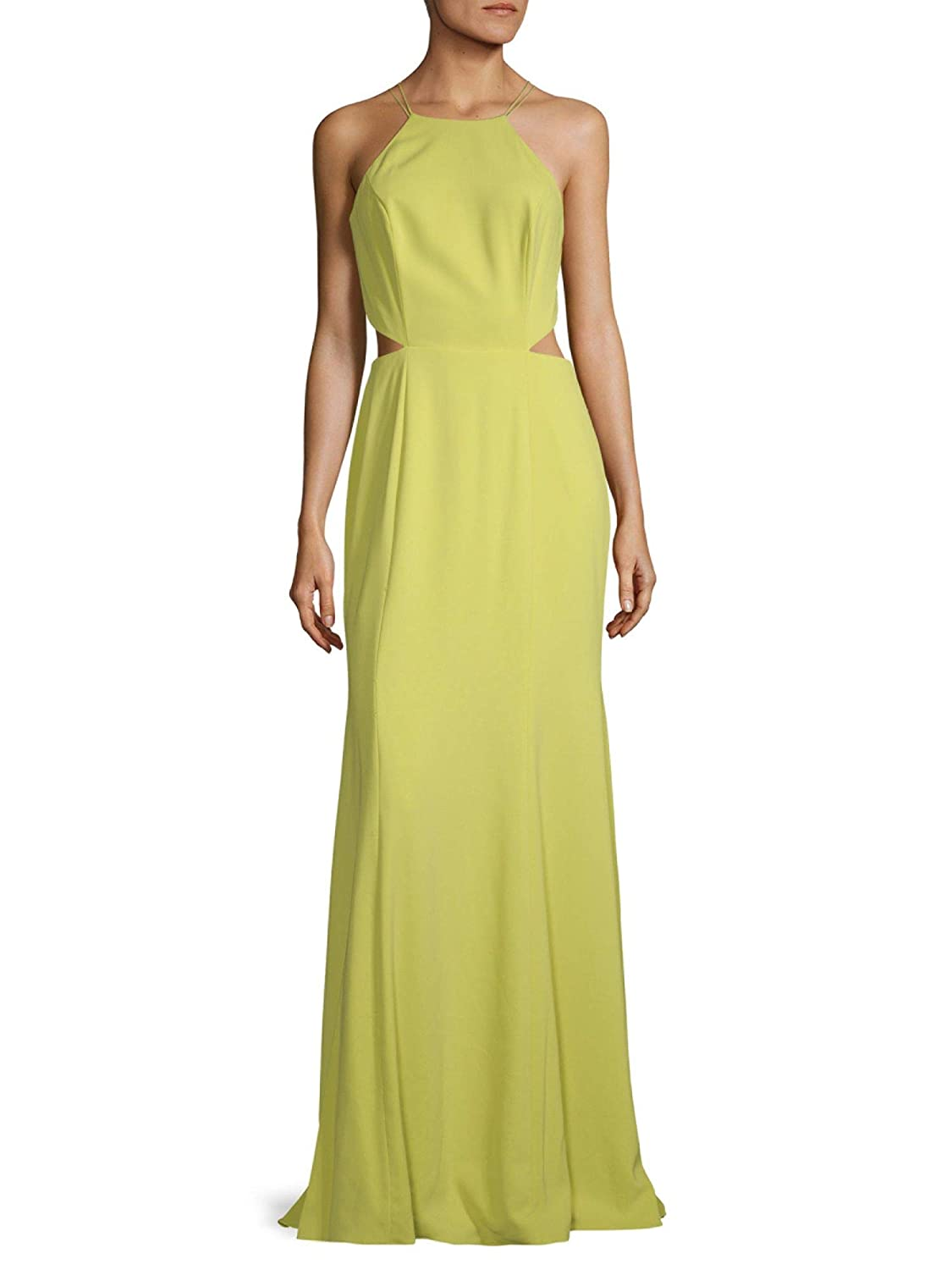 820f036a Marchesa Notte Tassel Cutout Floor Length Evening Gown Dress Chartreuse at  Amazon Women's Clothing store: