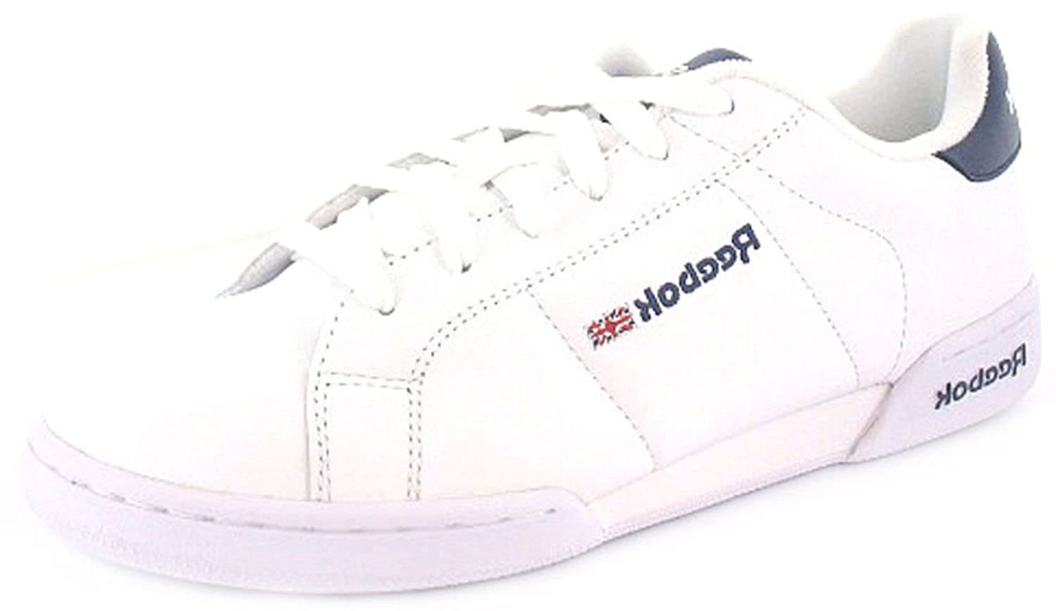 b9116b1bf90 New Ladies Womens White Reebok Classic Tennis Shoes Trainers. - White Classic  Navy - UK SIZE 6.5  Amazon.co.uk  Shoes   Bags