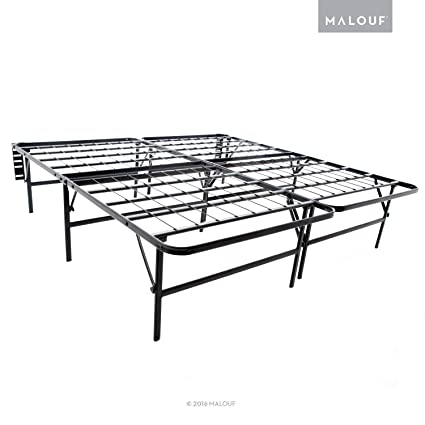 official photos 24968 492bf Amazon.com: MALOUF Structures Highrise Foldable Bed Frame ...
