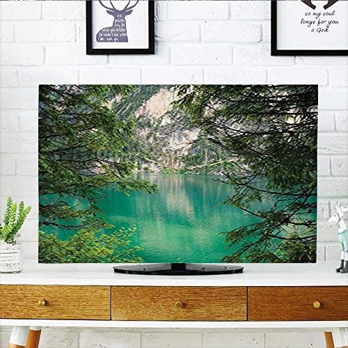 (Cover for Wall Mount tv Lago di Braies Italy and Skirts of The View High Pine Cover Mount tv W36 x H60 INCH/TV 65