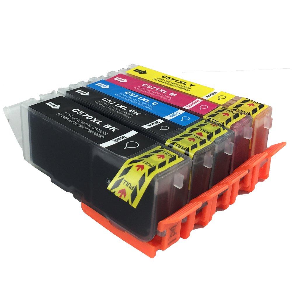 Best Value Canon Compatible Pgi 570 Cli 571 Xl Ink Cartridges For Cartridge 751 Yellow Pixma Mg5700 Mg5750 Mg5751 Mg5752 Mg5753 Mg6800 Mg6850 Mg6851 Mg6852