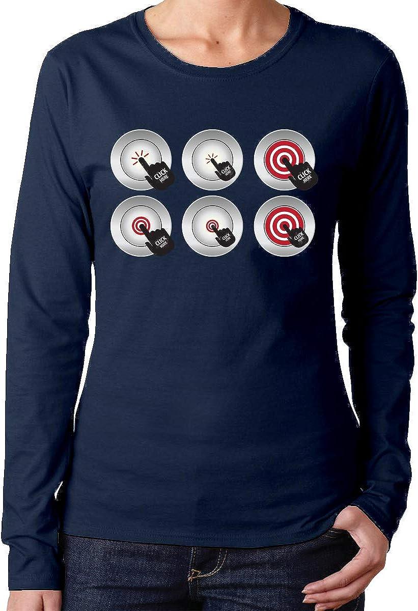 MiiyarHome Womens Long Sleeve T-Shirts Teen Girls Printed Long Sleeves Black