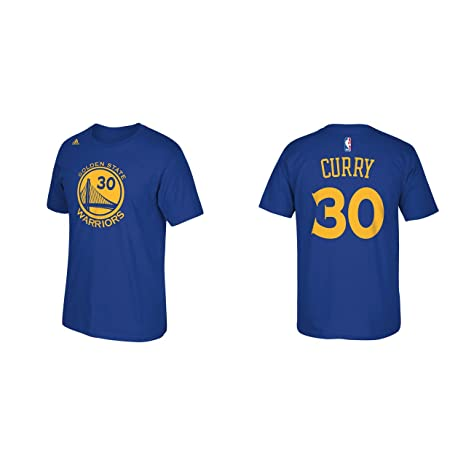 best service 1fe5b 5fb12 adidas Stephen Curry Golden State Warriors Blue Youth Name and Number  Jersey T-Shirt