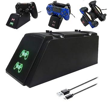 MOGOI PS4 Cargador de Control, Cargador de Carga Dual USB ...