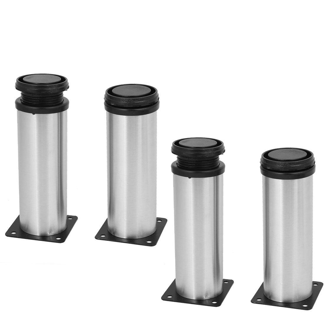 uxcell Kitchen Furniture Cabinet 50mm x 150mm Adjustable Feet Leg Round Stand 4PCS