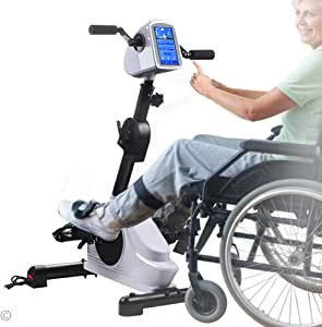 """Rehab Bike Pedal Exerciser Electronic Physical Therapy Arm/ Leg Health Exerciser with 7"""" Display Touchscreen Recovery Cycle for Handicap, Disabled and Stroke Survivor"""