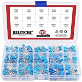 Hilitchi 375-Piece [2KV 100pF - 10000pF] Dip High Voltage Ceramic Capacitor Assortment Kit - 15 Value