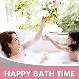 Wimaha XL Bathtub Mat, Bath Shower Mat Non Slip for Bathroom, Machine Washable, Ideal for Kids Toddler Senior, 39 x 16in, Clear Pink