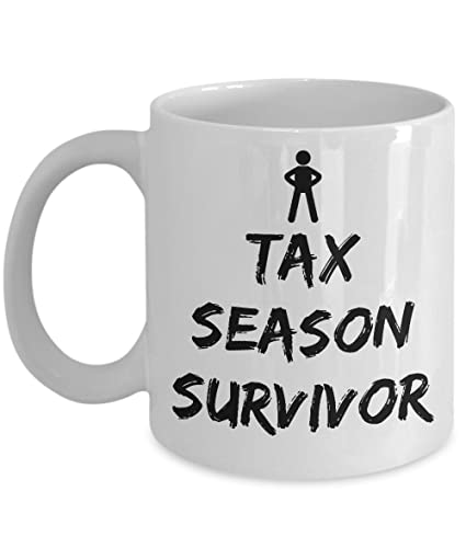 43c17d69 Image Unavailable. Image not available for. Color: Tax Season Survivor –  Accountant White Funny ...