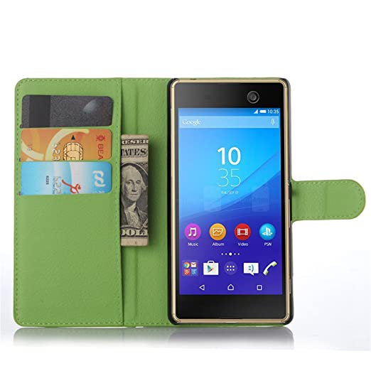 Amazon.com: Sony Xperia M5 Case–Manyip PU Leather Stand ...