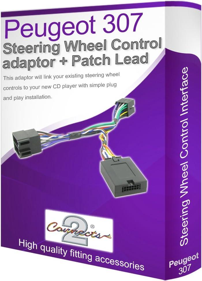 Peugeot 307 Voiture Stéréo Cable Adaptateur,Connect Votre Volant de Direction