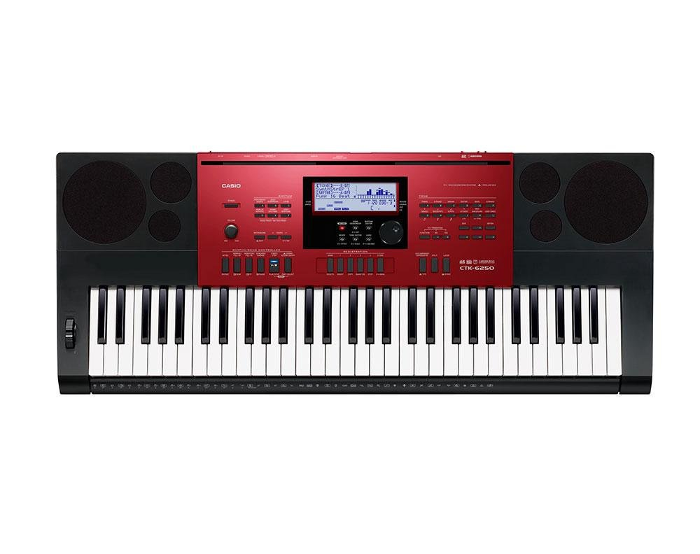 SET CASIO CTK-6250 KEYBOARD E-PIANO 61 TASTEN USB MIDI SD LCD STÄNDER KOPFHÖRER