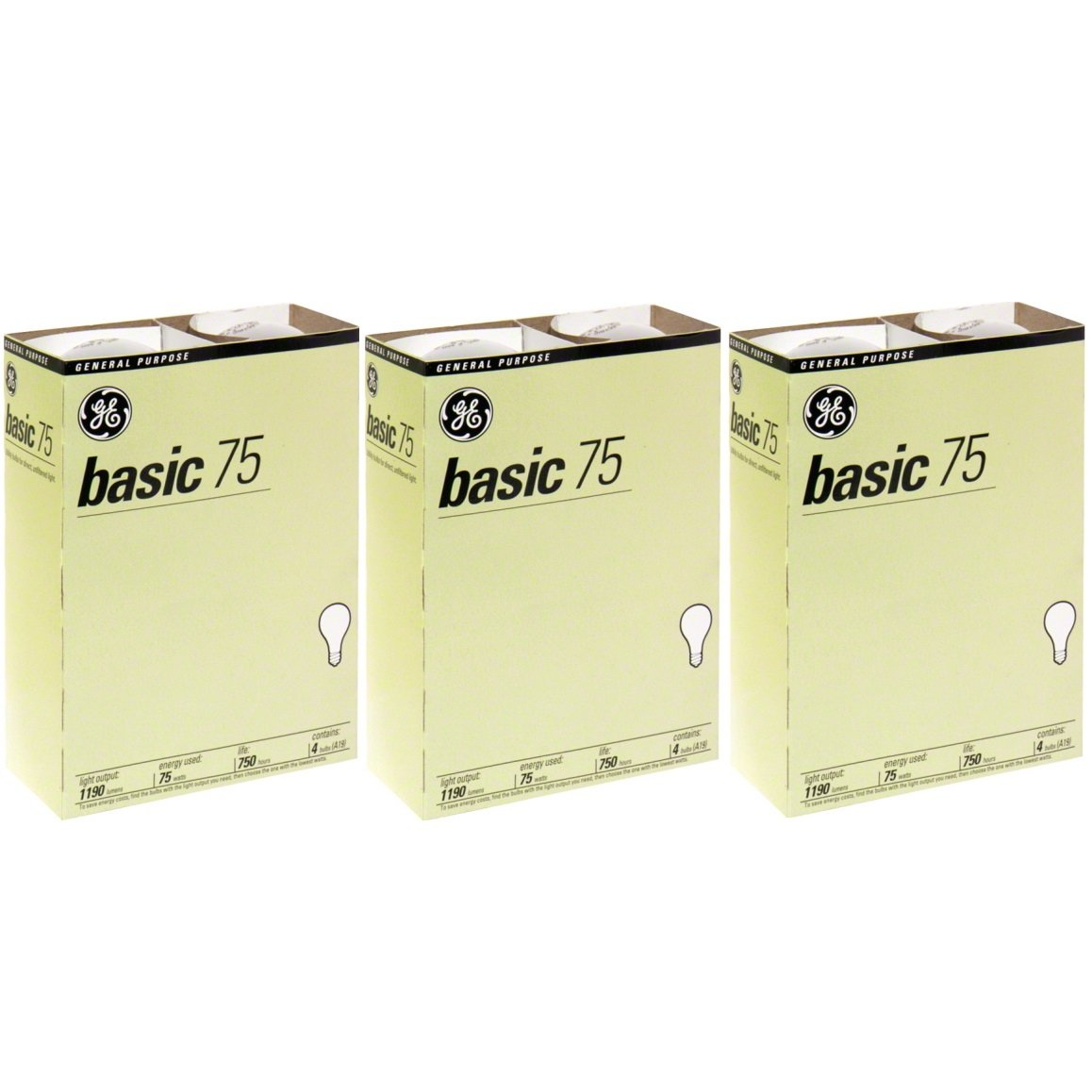 GE 41030 12 75 Watt A19 Basic 12 Pack…