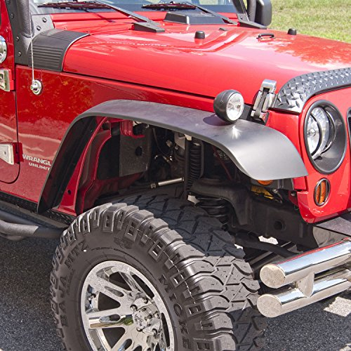 Outland 391162010 4 Piece All Terrain Flat Fender Flare Kit for Jeep JK Wrangler
