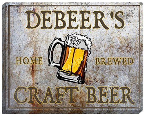 debeers-craft-beer-stretched-canvas-sign-16-x-20