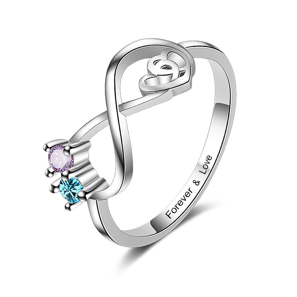 Lam Hub Fong Personalized Infinity Promise Rings Silver Simulate Birthstone Name Rings Design Engagement Anniversary Rings (9)