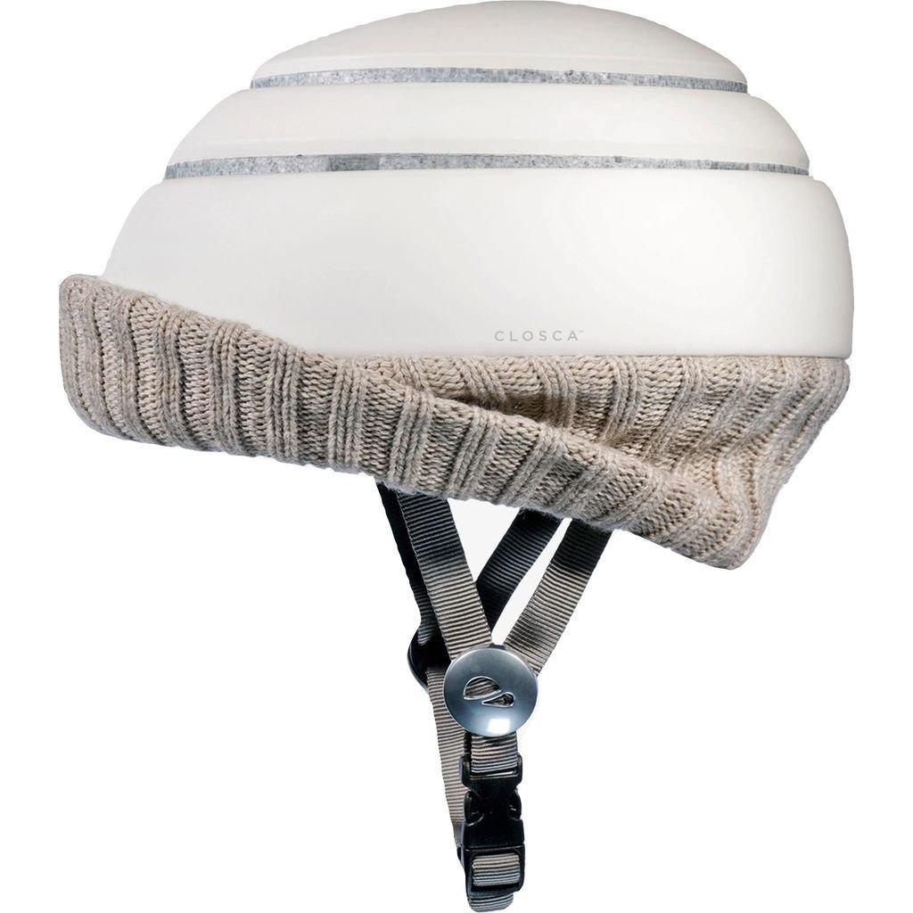 CLOSCA Nordic折りたたみ可能なヘルメットW /バイザー| Wheat /ホワイト – L B07B42LB7L