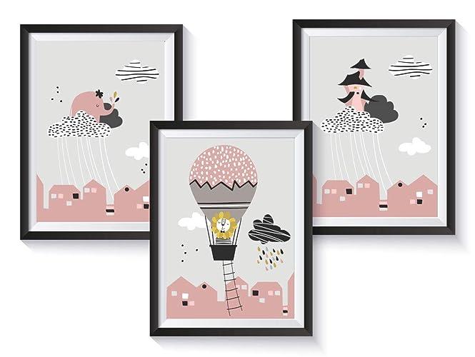 Poster Kinderzimmer Set für Mädchen in Rosa | weitere Motive zur ...