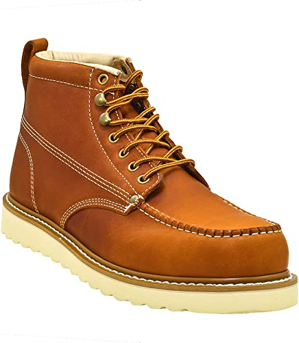 golden fox men's premium leather soft toe