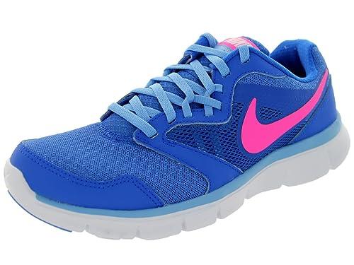 35c804bb6715b Nike Women s Flex Experience Rn 3 Hypr Cblt Hypr Pnk Pnk Unvrsty Bl Running  Shoe 6 Women US  Amazon.in  Shoes   Handbags