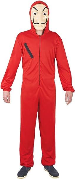 Vegaoo - Disfraz Mono Rojo ladrón Adulto - S / M (160-175 cm ...