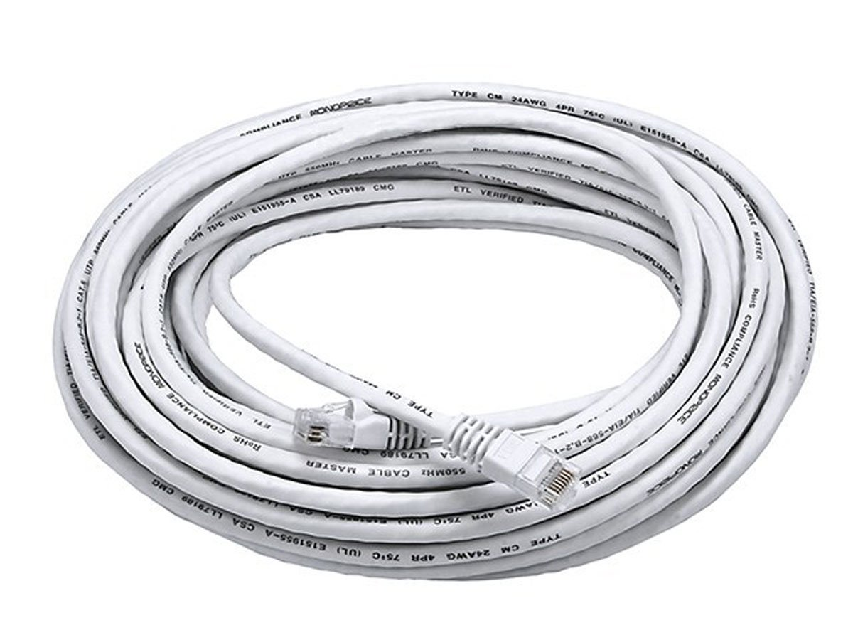 Amazon.com: Monoprice 50FT 24AWG Cat6 550MHz UTP Ethernet Bare ...