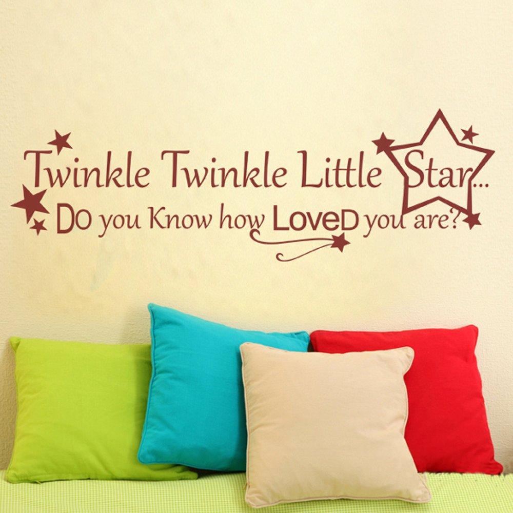 Amazon.com: Twinkle Twinkle Little Star Wall Decal - Nursery Wall ...