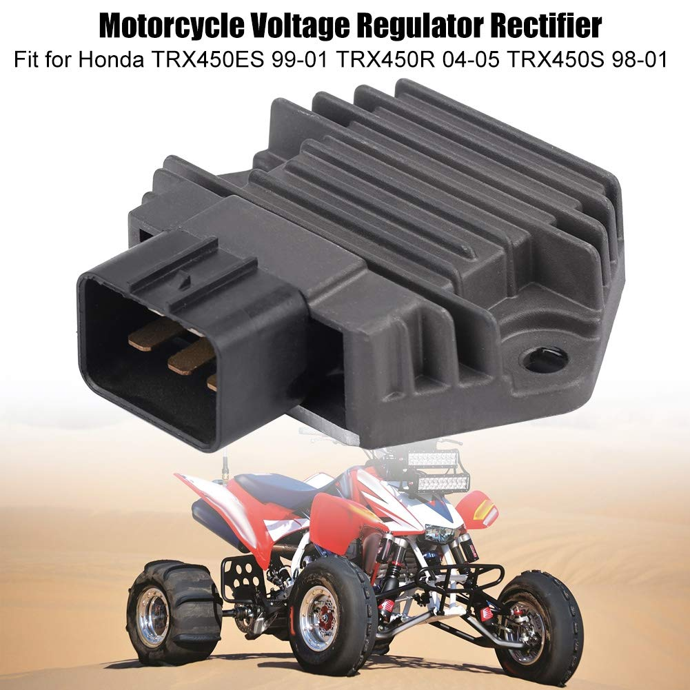 Black Acouto Motorcycle Voltage Regulator Rectifier for RX450ES 99-01 TRX450R 04-05 TRX450S 98-01 Blue