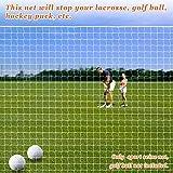 Sports Netting Replacement Nylon Barrier Net, Multi-Sport Use, Golf Net, LaCrosse, Street Hockey Netting (12' x 12')