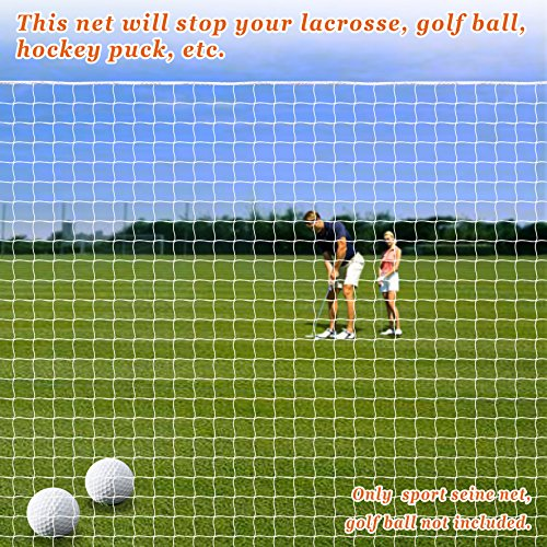 Sports Netting Replacement Nylon Barrier Net, Multi-Sport Use, Golf Net, LaCrosse, Street Hockey Netting (6' x ()