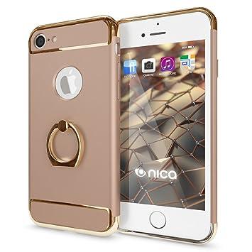 NALIA Funda con Anillo Compatible con iPhone 7, Carcasa Dura Ultra-Fina con 360 Grados Rotaria Kickstand, Ring-Case Hard-Cover Cubierta Protectora ...