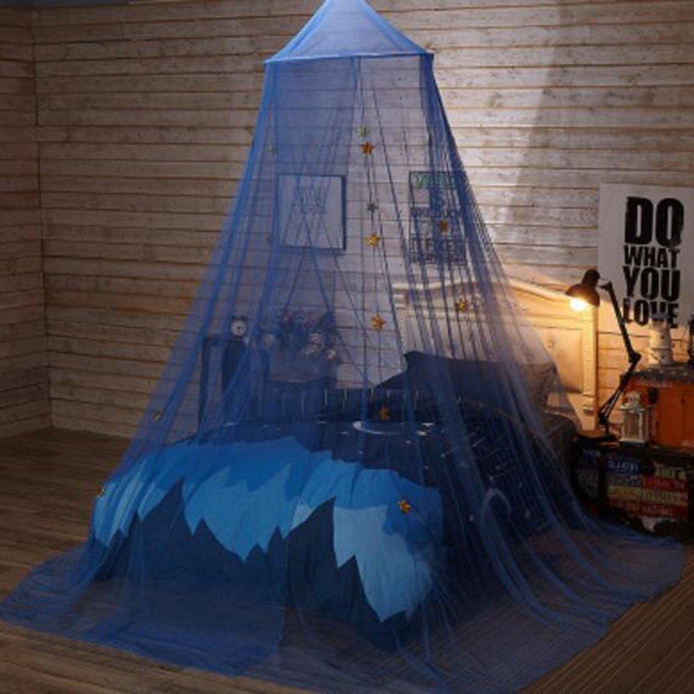 Mosquiteras Dosel para Camas Beb/é Mosquitera Anti-mosquitos Decoraci/ón infantil de techo Dormitorio Accesorios para Cama Dise/ño de Estrella de Sue/ño Color Azul