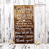 Welcome To Our Unplugged Wedding Sign, Unplugged Wedding Ceremony Sign, Rustic Wedding Sign, Unplugged Wedding Sign, Wedding Sign