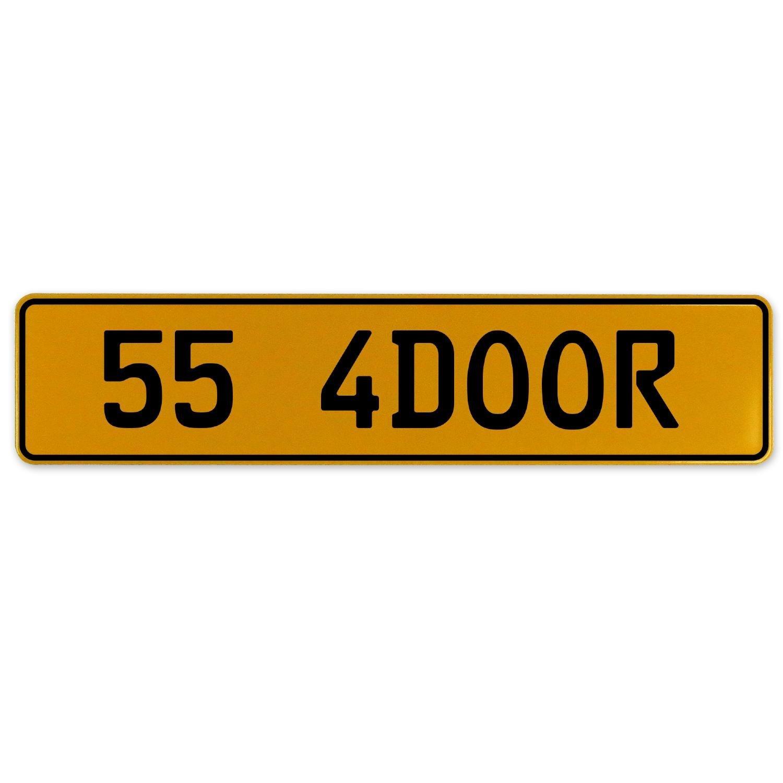 Vintage Parts 563167 55 4DOOR Yellow Stamped Aluminum European Plate