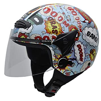NZI 050269G710 Helix Jr Graphics Boom Casco de Moto, Talla 50-51 (S