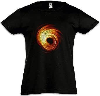 Urban Backwoods Black Hole Camiseta para Niñas Chicas niños T-Shirt Black