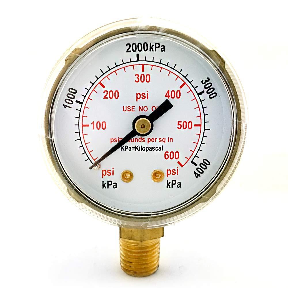 GAUGE 2in 0-600 PSI .25 MODEL US-8 Coreone Welding Supplies