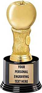 Crown Awards Apple Trophies with Custom Engraving, 7.25
