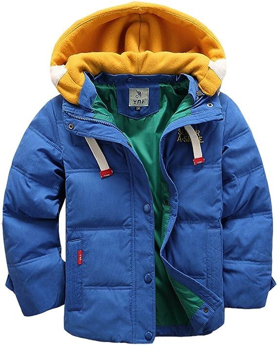 Manches Manteau Amovible Avec D'hiver Garçon Doudoune Chaud Pour Lserver Veste Longues Enfant Capuche TK1lFc3J