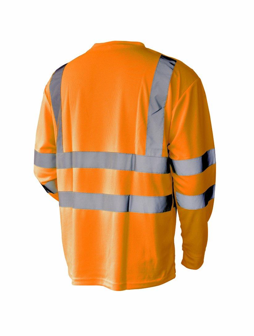 L&M Hi Vis T Shirt ANSI Class 3 Reflective Safety Lime Orange Short Long Sleeve HIGH VISIBILITY (5XL, Orange_L)