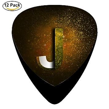 TG Dazzle color estrellado letras – J púa de guitarra/juego de ganzúas/púas