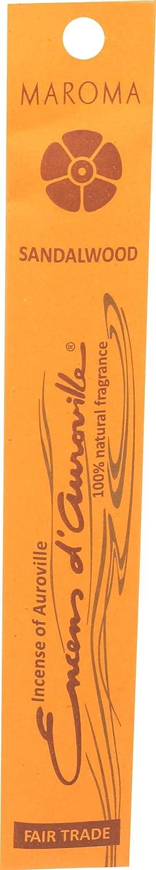 Maroma EDA Incense, Sandalwood, 10 Count