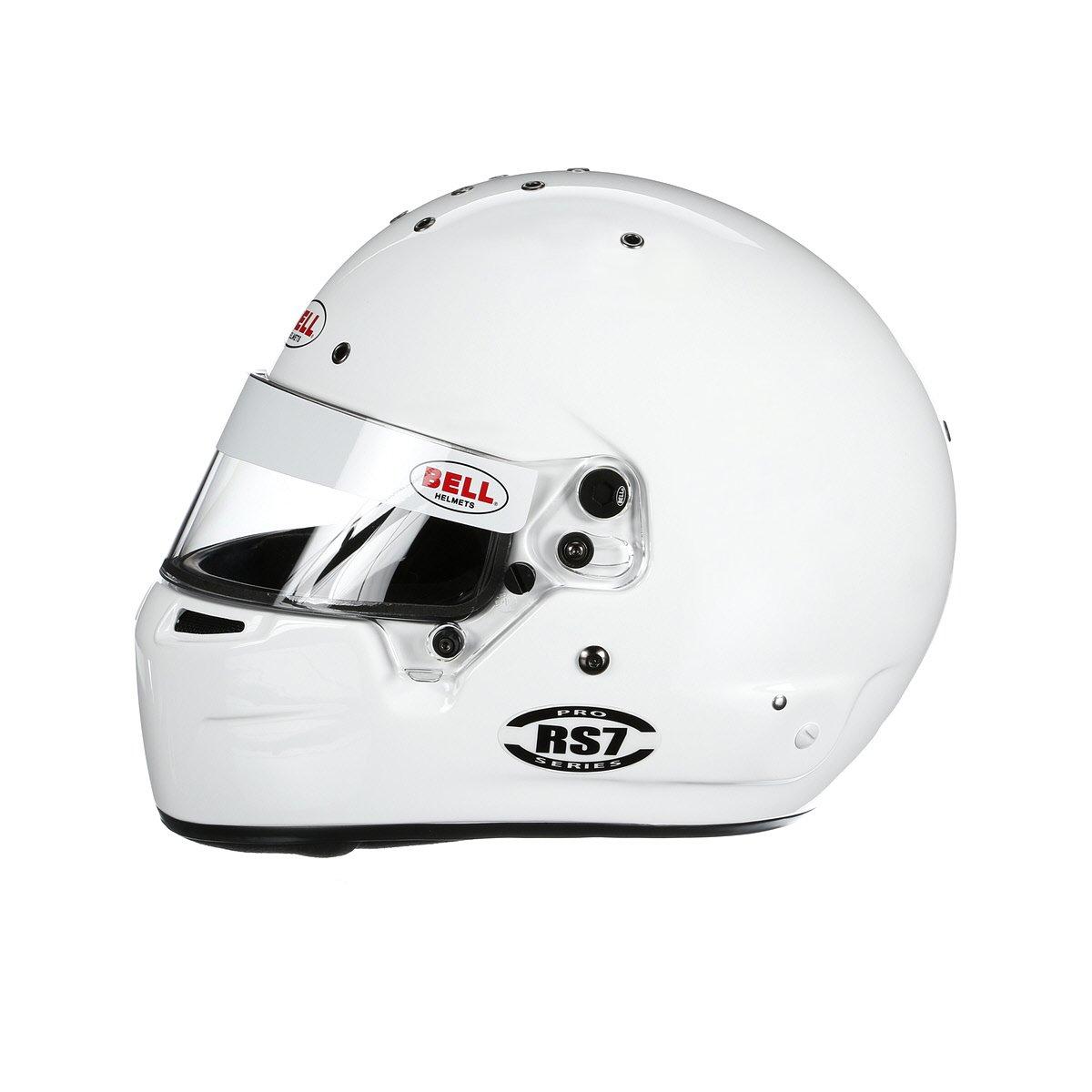 Bell Racing Helmets >> Amazon Com Bell Racing Rs7 Helmet White 57 7 1 8 Automotive
