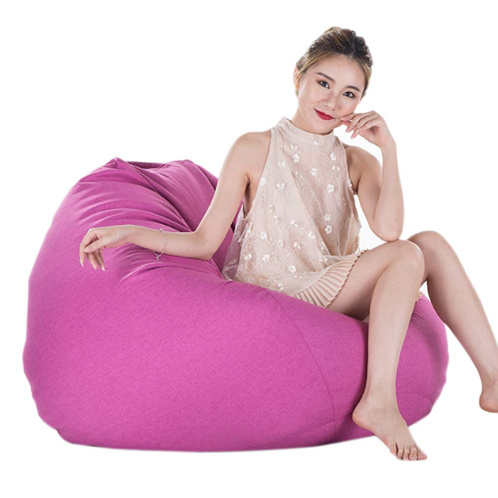 A13 Bean Bag Sofa Memory Foam and Large Recliner – Large Sofa, Large Lazy Sofa Fabric Hotel Single, 90  110Cm, Linen,A14