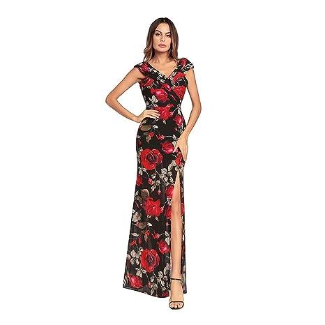 f52ea49da5fc1 YAN Vestito da Donna Abiti da Ballo da Sera Maxi Abito da Sera Formale da  Donna