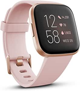 Fitbit Versa 2 Health and Fitness Watch with Heart Rate, Sleep and Swim Tracking – Petal/Copper Rose Pink
