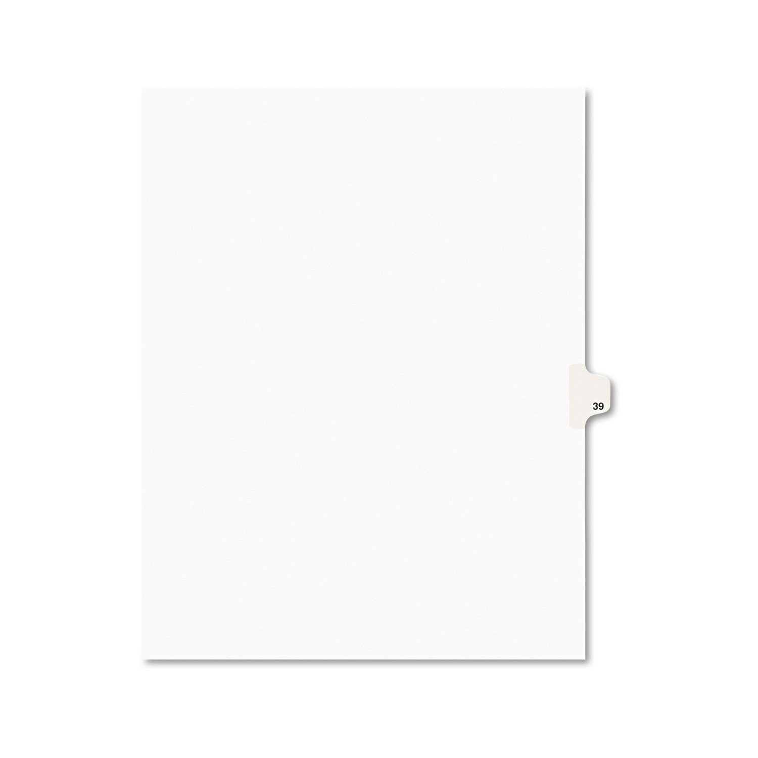 Avery Legal Dividers, Premium Individual Tab Titles, Letter Size, Side Tabs, 39, 25 Pack (01039)