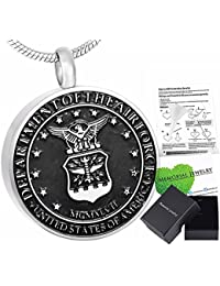 """Mens """"UNITED STATES OF AMERICA DEPARTMENT OF THE AIR FORCE"""" Cremation Pendant"""