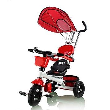 fascol® Smart Design 4-en-1 triciclo para niños Kids senderismo 3 Rueda